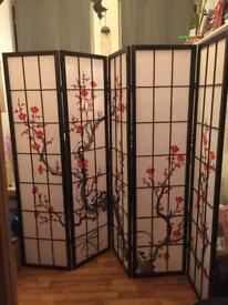 Beautiful 5-Panel Oriental Screen / Room Divider