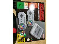 Brand new and sealad Nintendo SNES Classic Mini.
