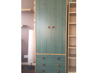 Pine wardtobe with 3 drawers in good condition