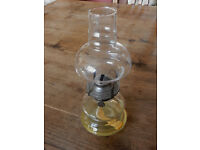 Glass Oil Lamp - ideal for the patio.