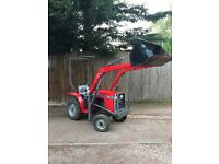 Massey ferguson 1010 compact tractor with loader farm stable