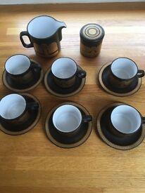 "Hornsea England ""Midas"" Coffee Set"
