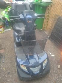 Invacare Mobility Scooter. Large Scooter not for car boot. 8mph or 4 mph. Good used condition.