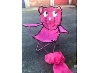 Child's pink cat chair