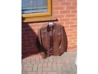 High quality brown leather jacket