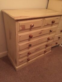 Solid pine chest of drawers shabby chic project