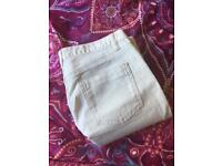 White Boden bootcut jeans - size 12