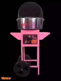 Cotton candy Floss Machine Covered & Cart cycle brand New Commercial Machine