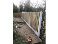 Pressure treated fencing 62 a bay supplied n fitted