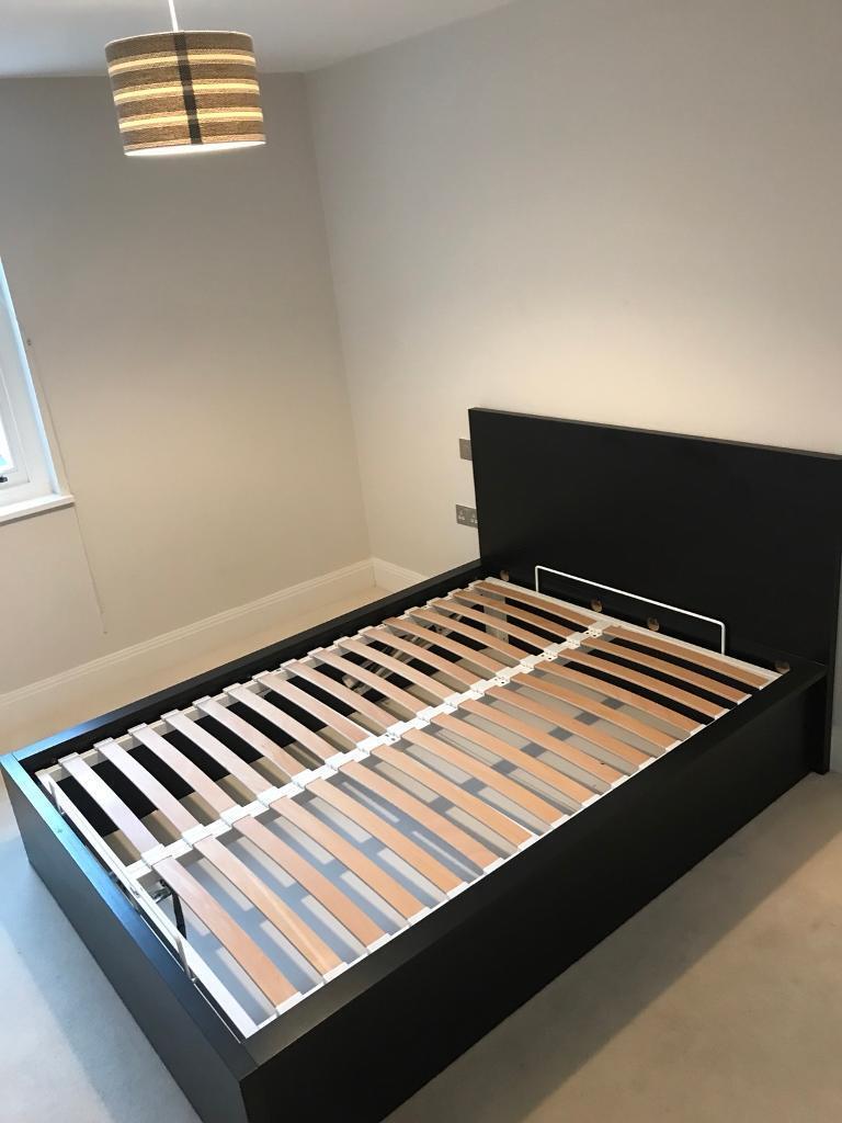 IKEA MALM Ottoman lifting bed frame black