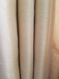 66/90, 2 pairs heavey material black out eyelet silk touch curtains from dunlmn