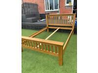 Solid oak king size bed FRAME ONLY