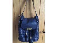 Florelli Navy Designer Bucket Handbag