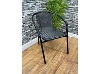 New Black Rattan Outdoor Café Bistro Patio Garden Chairs