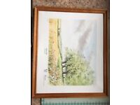 Roy haydon watercolor signed print