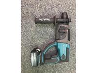 Makita dhr202 cordless Sds hammer drill masonry 3.0ah bat