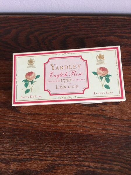 Vintage Yardley English Rose Soap Set for sale  Stowmarket, Suffolk