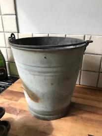 Lovely Galvanised Garden Bucket