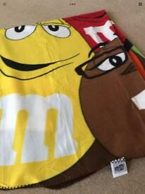 Disney - M&M world fleece blanket, throw....NEW