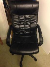 Leather, adjustable office chair