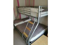 Bunk bed double bottom, single top