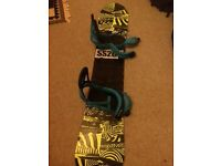 Snowboard and bindings. K2 parkstar and burton mission bindings. 157wide