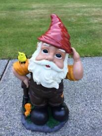 THREE GOOD QUALITY GNOMES FOR SALE £12 EACH NORMALLY WOULD COST OVER £20 EACH JUST NEWLY PAINTED