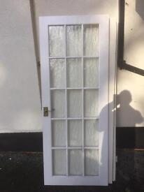 "Glazed interior door for sale standard size 30"" wide 76.5"" tall"