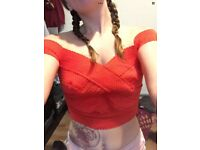 Red going out top new look petite