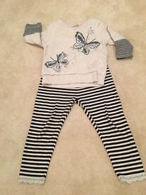 NEXT TOP AND ACCOMPANYING LEGGINS - 3-6 MONTHS