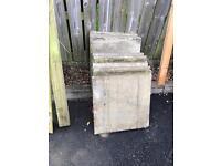 12 60 cm concrete slabs