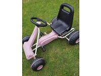 Girls pink go kart car garfen toy