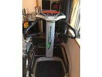 Vibrating body toning/shaping plate machine