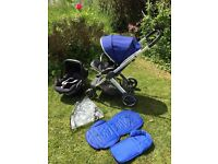 Oyster 2 push chair and car seat (seat liner and rain cover)