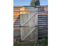 Arched Wood Garden Gate / Door with Hinges 6ft 6inch x 3ft