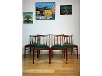 Mid Century G Plan Brasilia Dining Chairs Set of Four FREE LOCAL DELIVERY