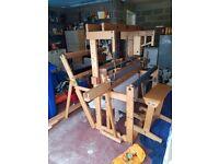 40 inch weave width 16 shaft weaving AVL Folding Dobby Loom electronic lips system(like a dobby)