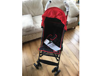BRAND NEW UNUSED Fisher-Price From Birth Pushchair - Black and Red