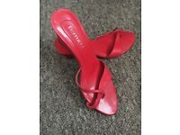 Stunning cherry red size 6 wedge sandal