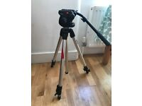 Manfrotto tripod with 128LP Micro Video Head and 503HDV Video Head