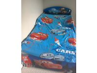 Disney Cars bed, mattress ,and single sized Disney cars bedding and pillow case ,good condition