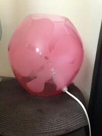 Ikea pink bedside light