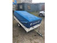 CONWAY 92 CLIPPER TRAILER TENT WITH EVERYTHING YOU NEED TO GO CAMPING COOKER ETC