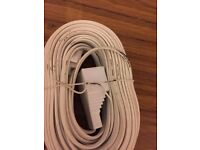 10 METRE BT TELEPHONE EXTENSION CABLE PHONE FAX OFFICE SOCKET LEAD 10M FAX MODEM