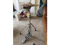 Paiste Alpha hi-hat cymbals and stand