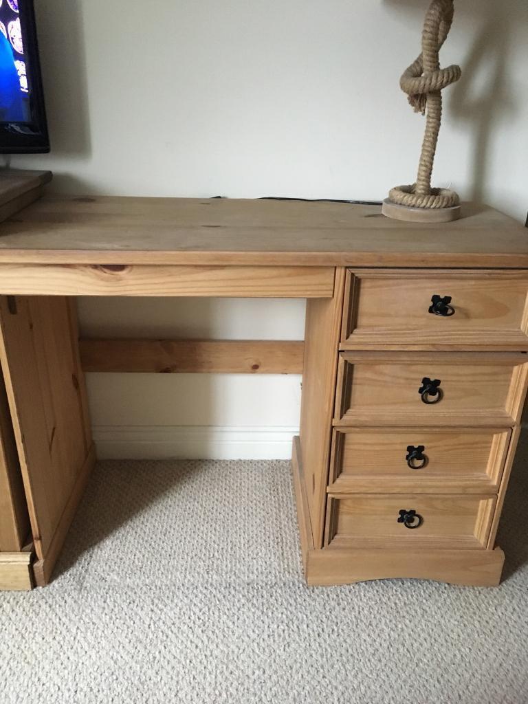 Mexican Pine Desk Dressing Table In Tiverton Devon