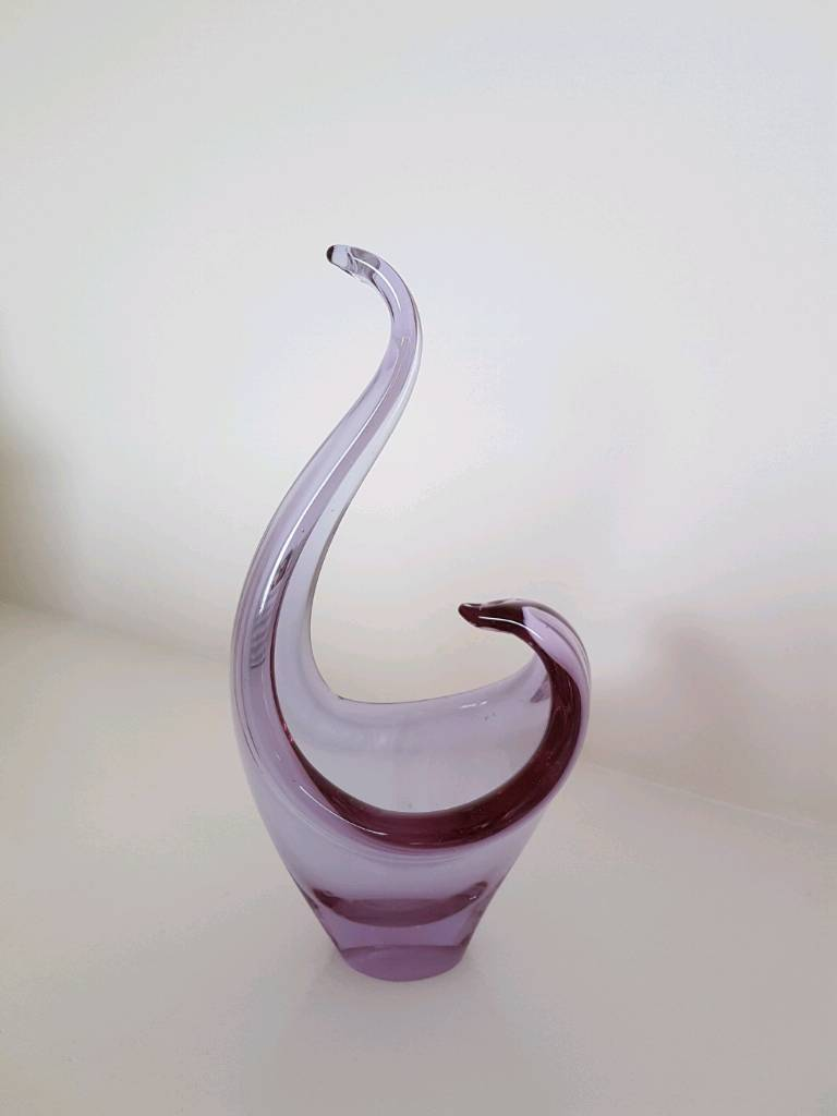 Purple glass ornament
