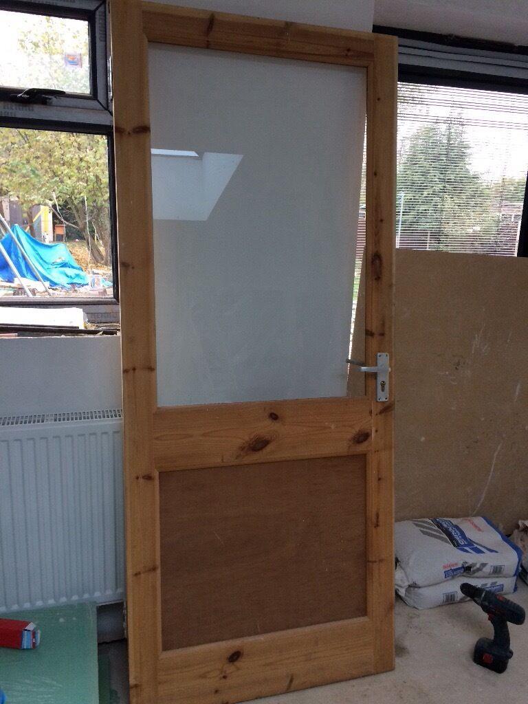 External Wooden Door 33 X 78 Inch Glazed GBP40