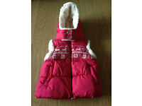 Next Girls Christmas Gilet new with tags and two coats, H&M hello kitty dress 3-4 years