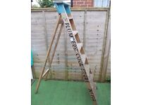 Vintage wooden folding ladders
